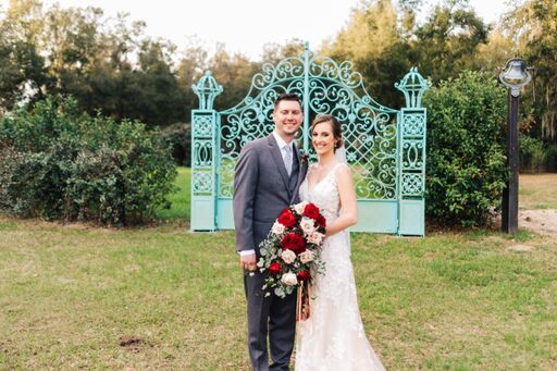 Lakeside Ranch Modern Blue Wedding