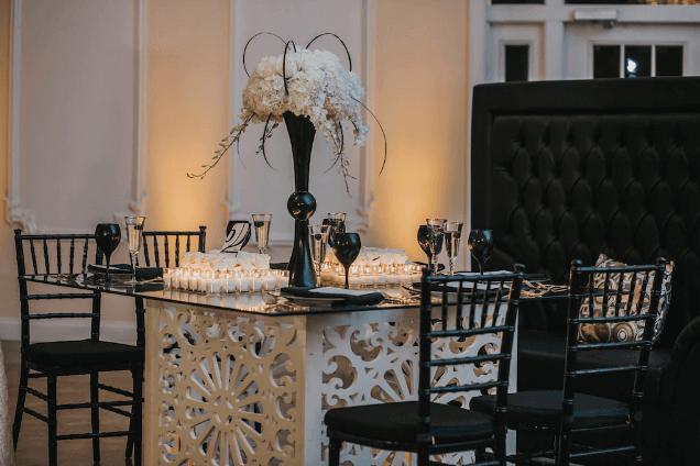 lange farm a chair affair geo table chiavari chairs black goblets royalty throne