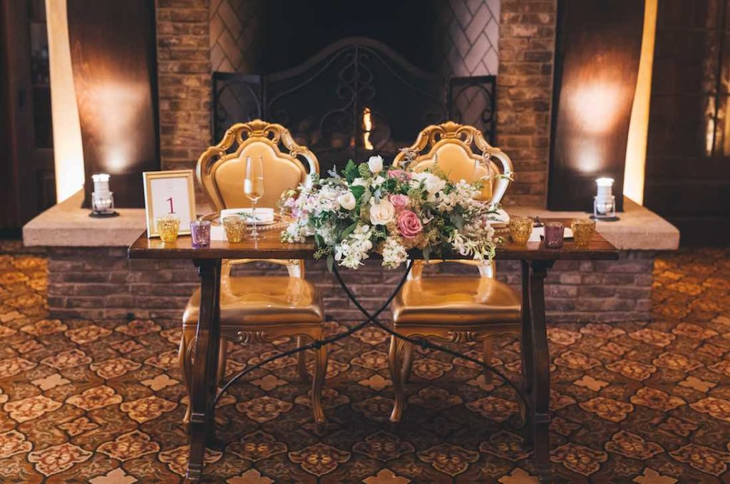 sophisticated gold Bella Collina wedding