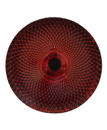 Red & Black Weave Glass Charger