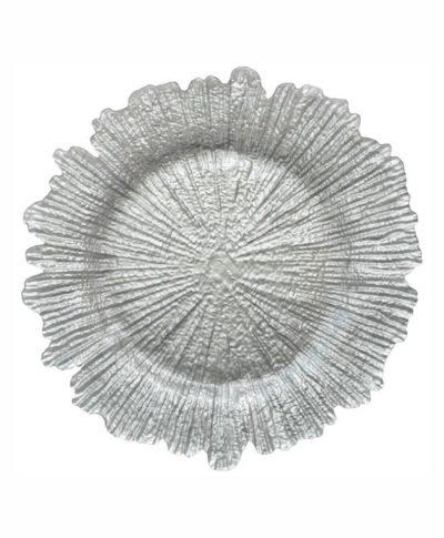 Silver Sea Sponge Glass Charger