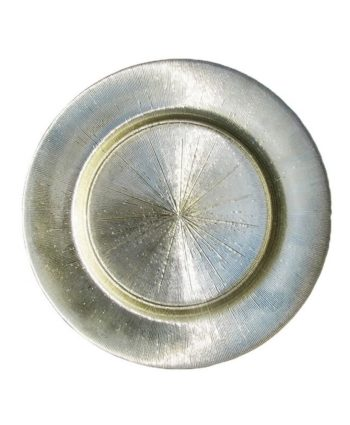 Sparkling Silver Starburst Glass Charger