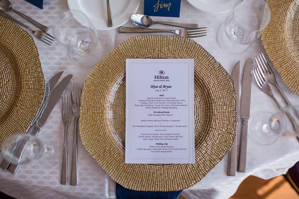 playful hilton orlando bonnet creek wedding a chair affair gold octo chargers