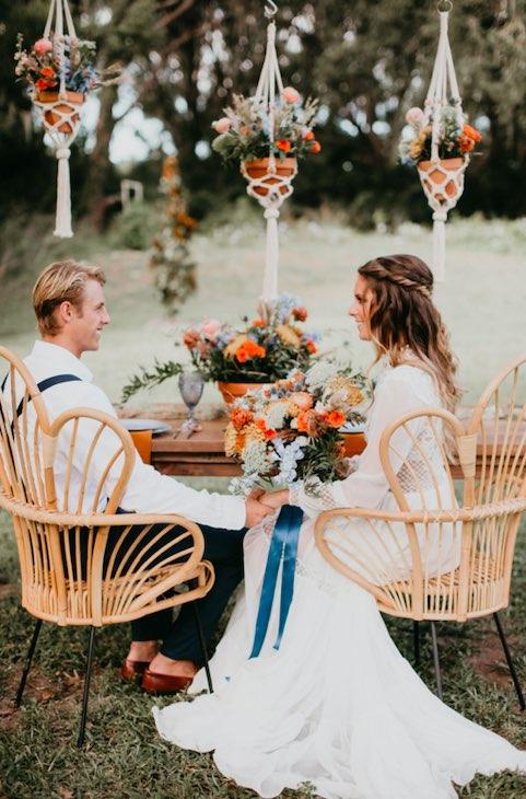 Boho New Smyrna Beach Barn Wedding
