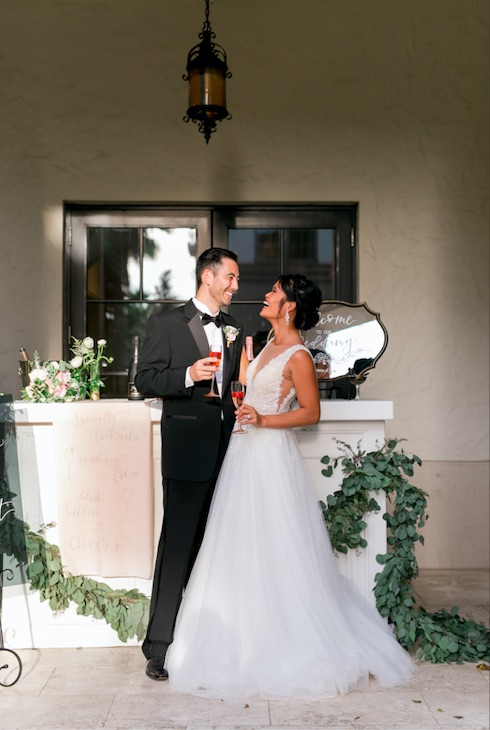 Greek New Year's Eve wedding