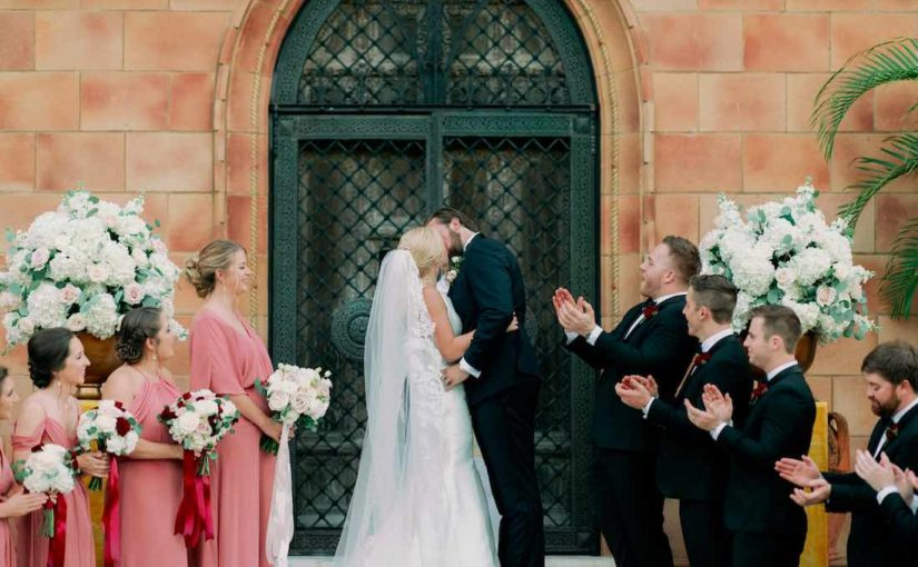 elegant outdoor Ringling Museum wedding