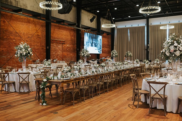 A Chair Affair, Armature Works Wedding,Monika Gauthier Photography, Farm Tables, Monaco Tables