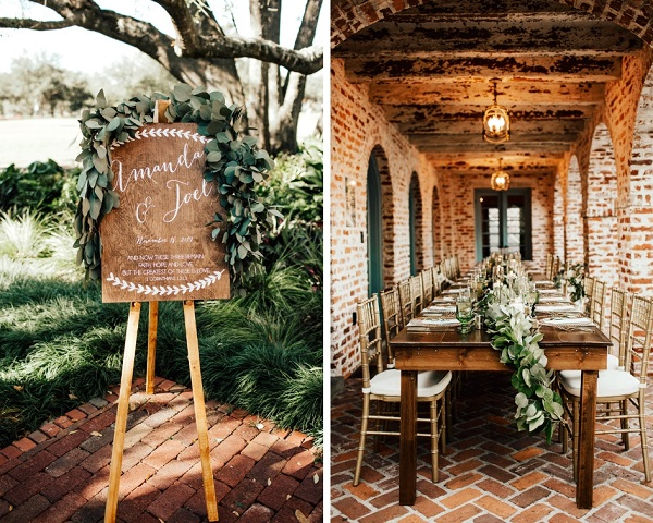 Casa Feliz wedding, A Chair Affair, Farm Tables, Chiavari chairs, Farm tables, welcome sign