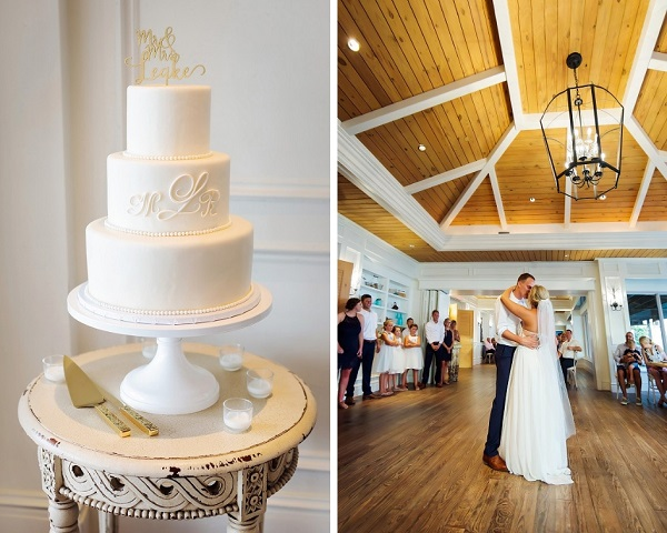 Ritz-Carlton Beach Club Wedding, A Chair Affair, Limelight Photography, Cake, First Dance