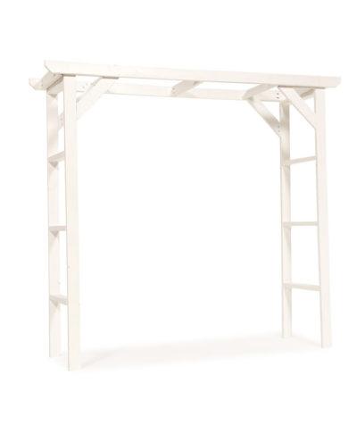 White Wood Wedding Arch – A Chair Affair Rentals