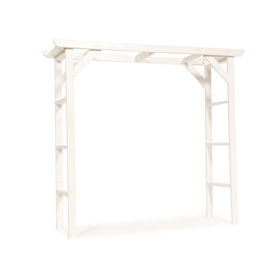 White Wood Wedding Arch - A Chair Affair Rentals