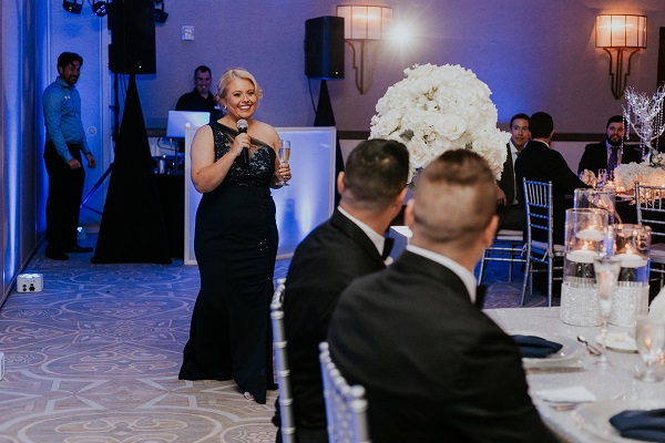 Alfond-Inn-Wedding-A-Chair-Affair-LGBT-Wedding-Navy-Linens-Silver-Glittler-Chargers