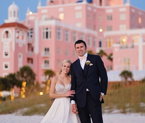 Don Cesar Blush and Gold Wedding
