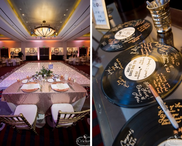 Hard Rock Hotel, A Chair Affair, Cricket Photo and Cinema, guest book, gold chivari chairs