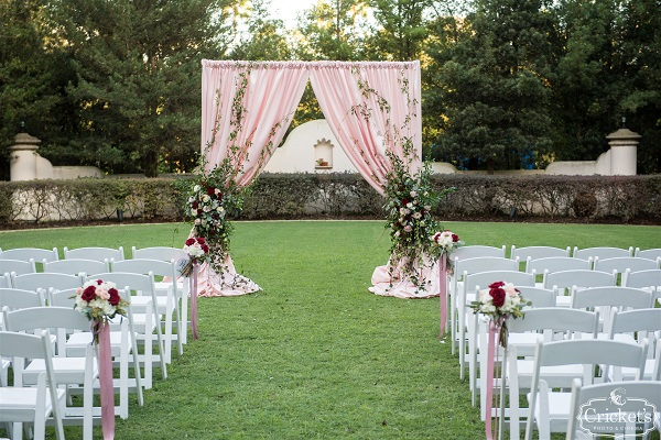Hard Rock Hotel, A Chair Affair, Cricket Photo and Cinema, outdoor ceremony, white folding chairs