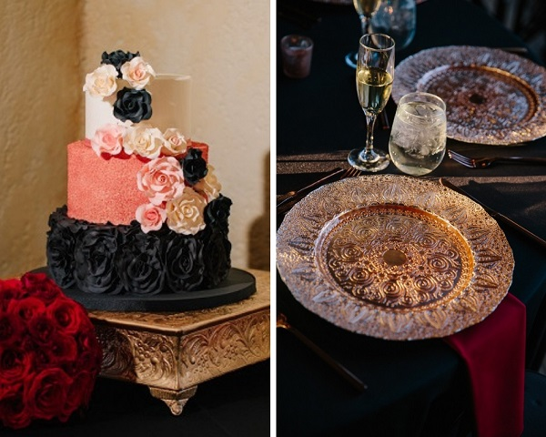 Howey Mansion, A Chair Affair, J. Lebron Photography, Rose Gold Charger, cake