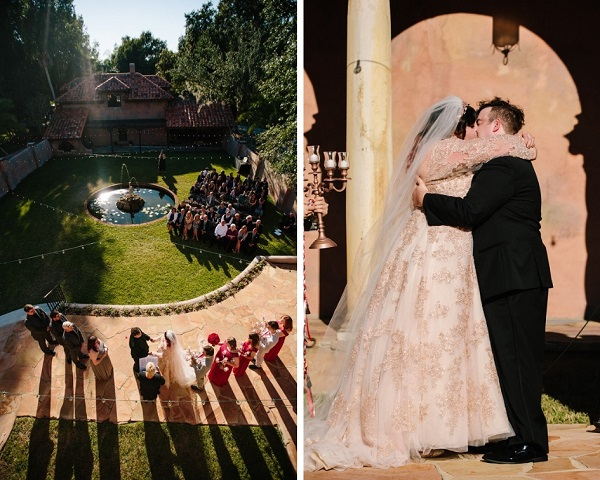 Howey Mansion, A Chair Affair,J. Lebron Photography, Rose Gold Chargers, outdoor wedding ceremony