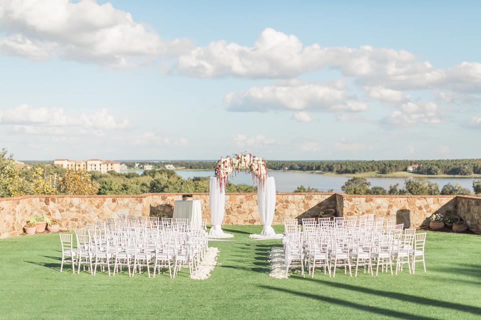 Gold Bella Collina Wedding A Chair Affair ceremony location