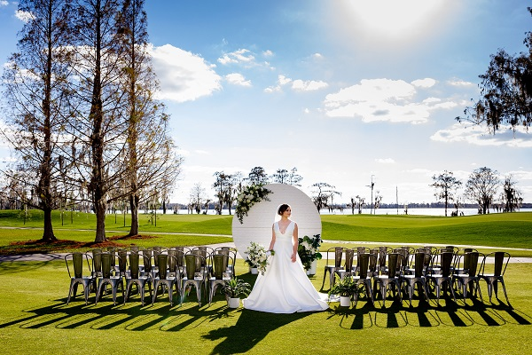 Lake Nona Country Club, Victoria Angela, A Chair Affair, Silver and Blue Wedding