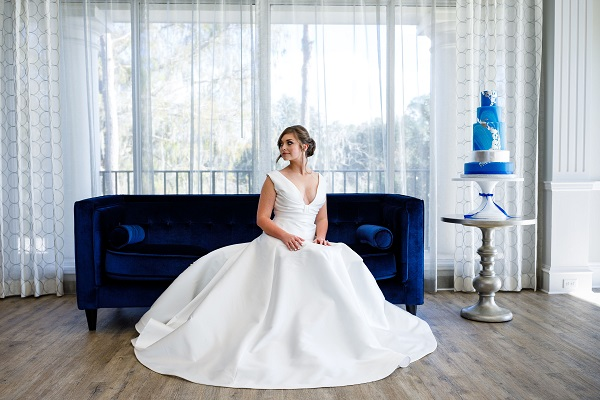 Lake Nona Country Club Silver and Blue Wedding