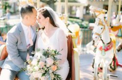 Paddlefish Wedding In Soft Peach and Pink