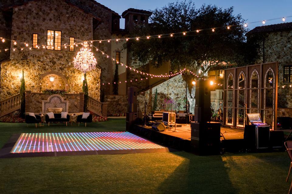 Bella Collina Bella Bliss 2019 Chair Affair dance floor glow