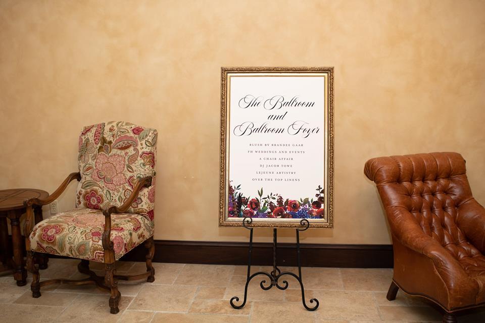 Bella Collina Bella Bliss 2019 Chair Affair sign 2