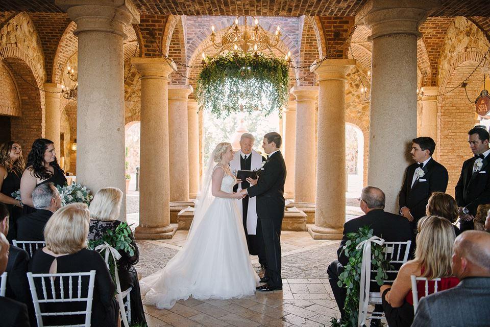 Bella Collina Black and Gold Wedding chair affair wedding