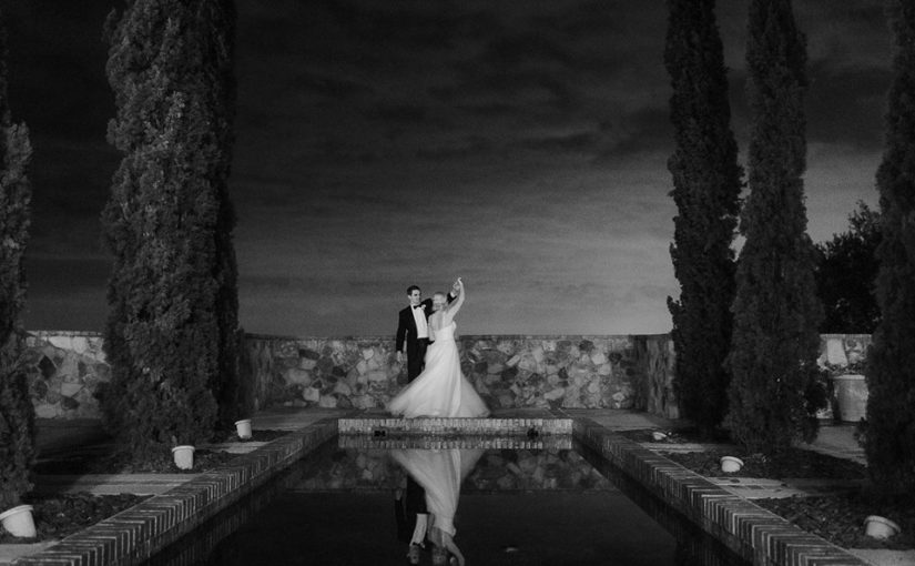 Bella Collina Black and Gold Wedding
