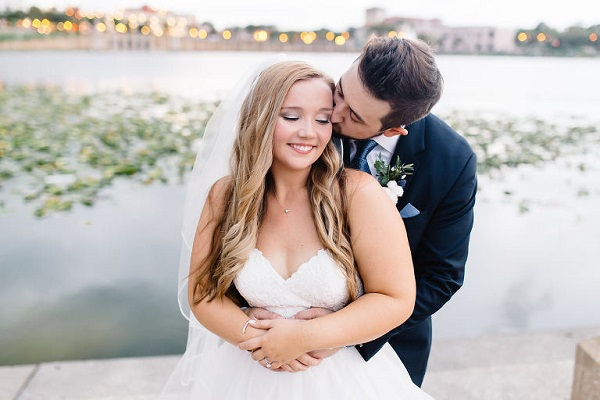 Lakeland Dusty Blue Waterfront Wedding