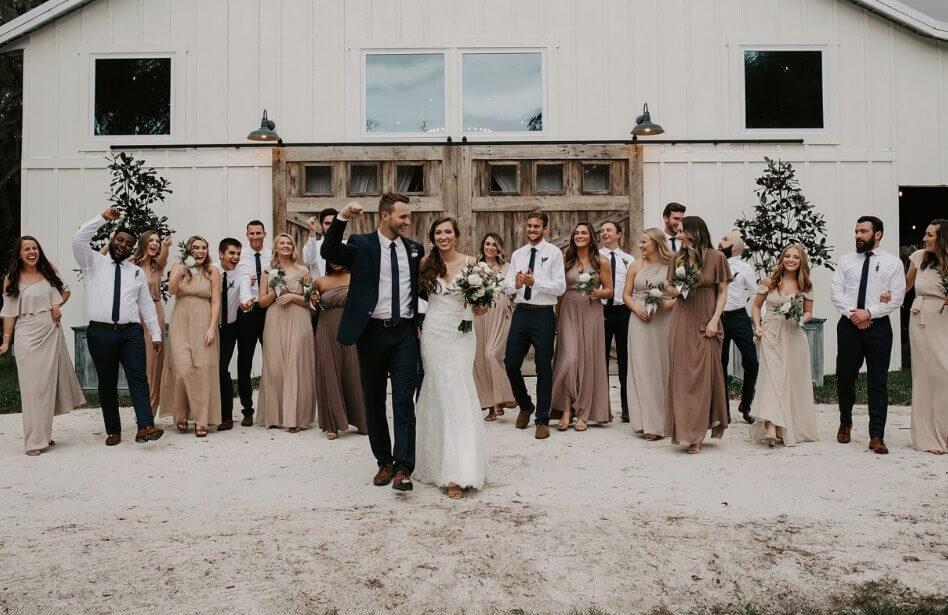 new smyrna beach bohemian wedding a chair affair ceremony exit