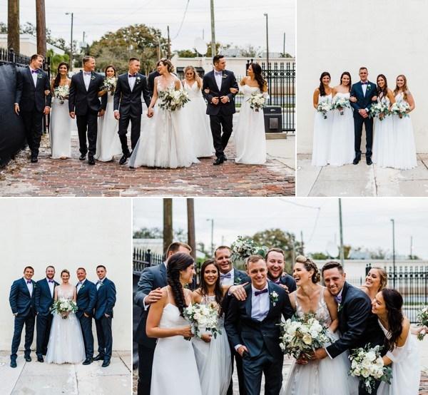 modern whimsical wedding The Rialto a chair affair bridal party