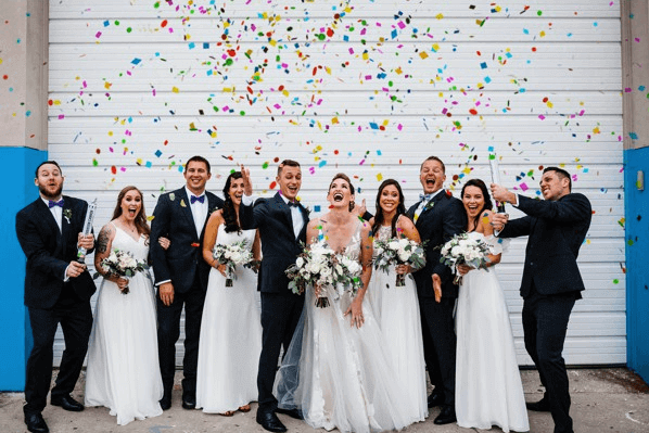 The Rialto Theater Modern Whimsical Wedding