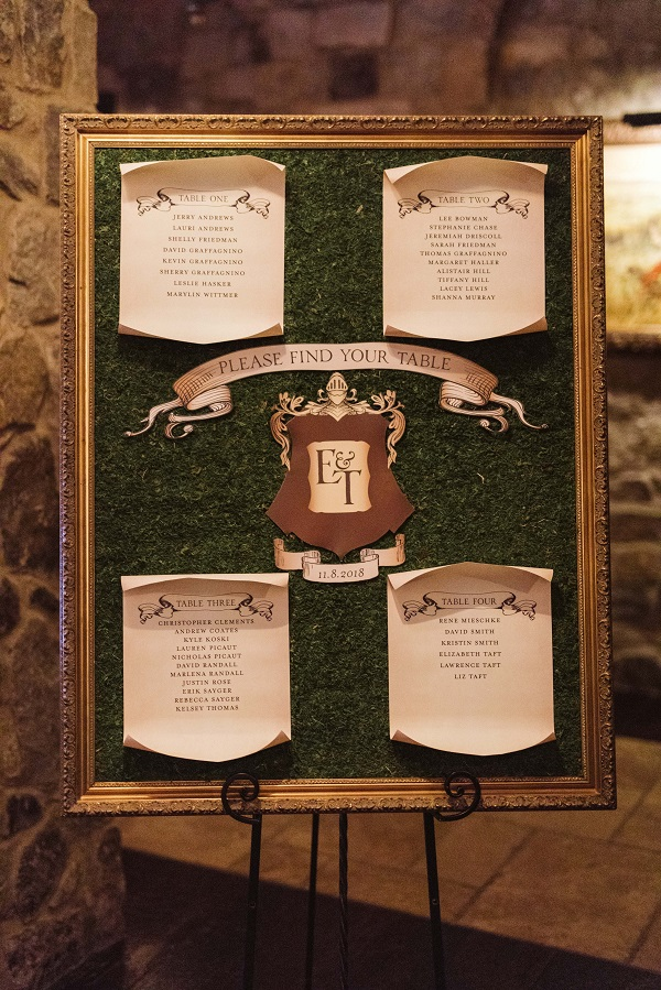 Escort Card Bella-Collina-Nate-Phur-Photo-A-Chair-Affair-Harry-Potter-Reception