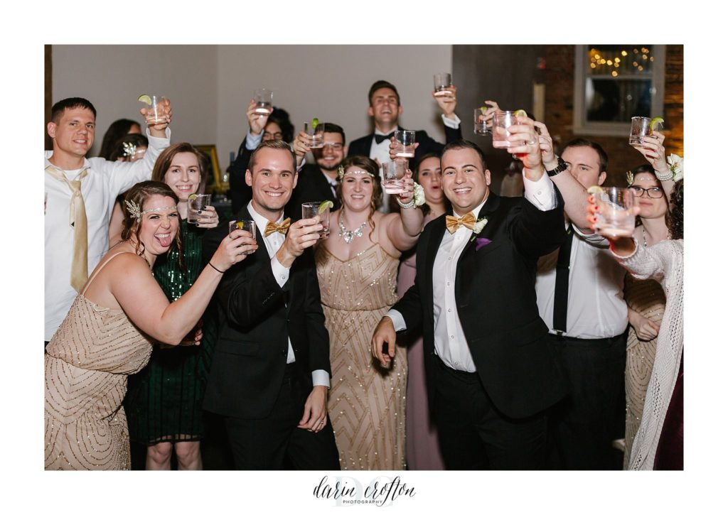 CAVU Wedding party toast