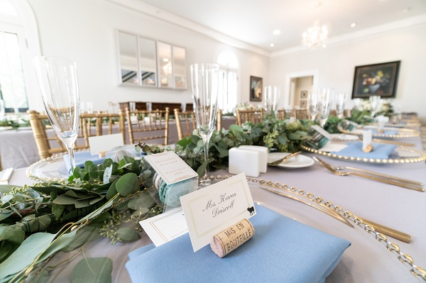 Capen House-LGBT Wedding- Intimate Wedding- Bushed Gold Flatware- Table setting