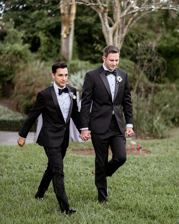 Capen House-LGBT Wedding- Intimate Wedding- Grooms Processional