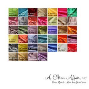 Lamour Linens - A Chair Affair Rentals