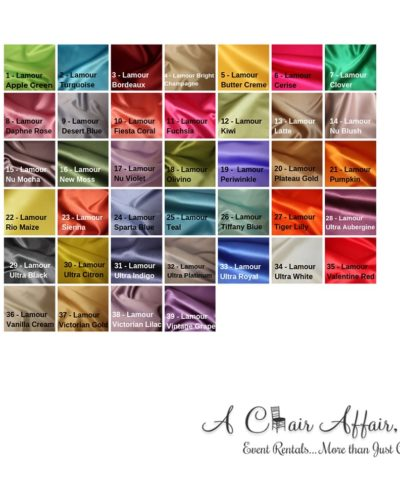 Lamour Linens – A Chair Affair Rentals