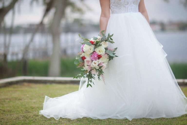 St. James Episcopal Church Bouquet and Dress