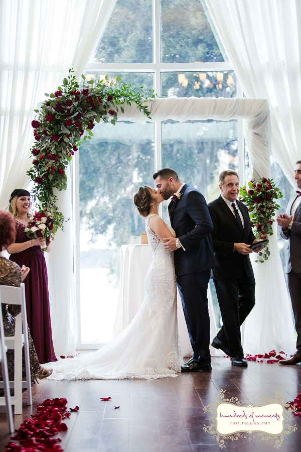 Lake Mary Events Center, Burgundy and Gold Wedding, A Chair Affair