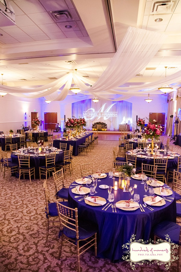 Lake Mary Events Center Burgundy And Gold Wedding A