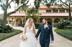 Navy and Blush Lake Mary Wedding