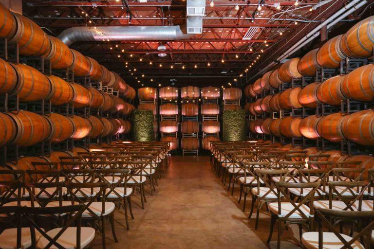 Quantum Leap Winery Ceremony Hedge Walls