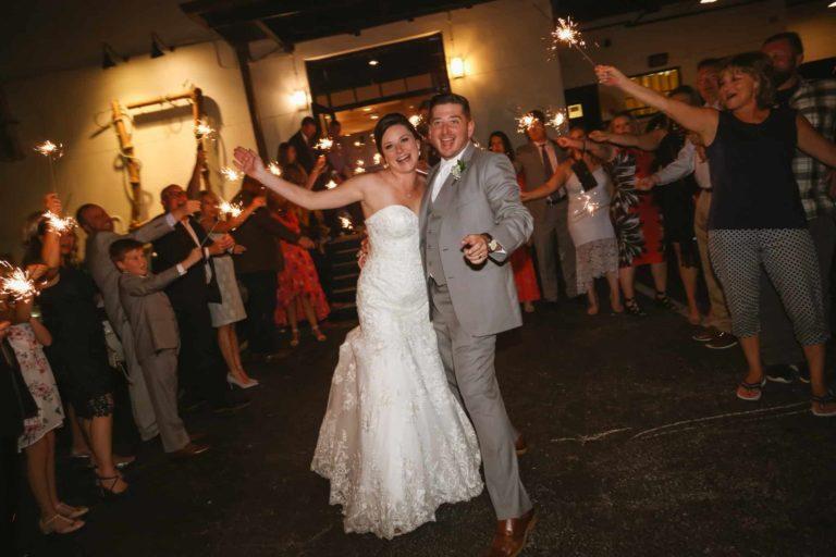Quantum Leap Winery Happy Newlyweds