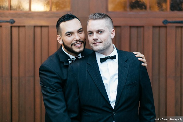 Burgundy and Gold LGBT Wedding