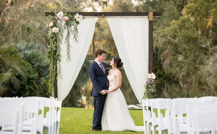 Bok Tower Gardens Purple and Gold Wedding