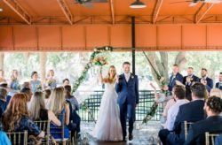 Navy and Gold Winter Park Farmers Market Wedding