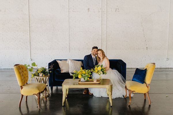 Haus 820 Gold and Navy Wedding Styled Shoot