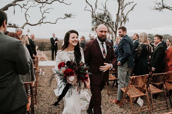 Moody St Augustine Marsh Wedding- Fall Wedding- A Chair Affair